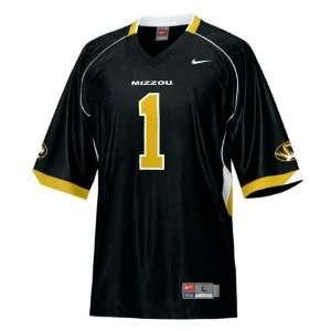 Missouri Tigers Football Jersey Nike Black #1 Replica Football