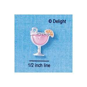 C2488+ tlf   Tropical Drink   Hot Pink   Silver Plated