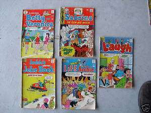 Lot of 5 1970 Archie Series Comic Books  |
