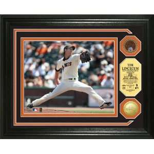 Tim Lincecum San Francisco Giants Photo Mint with 24KT