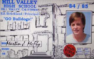 Back To The Future Marty McFly School ID Prop