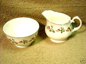 Mayfair Bone China Staffordshire England Creamer Sugar |