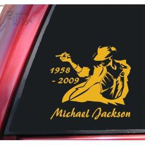 Michael Jackson 1958   2009 Vinyl Decal Sticker   Mustard