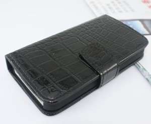Skin Leather Wallet card cell phone cover Case For iPhone 4 4G
