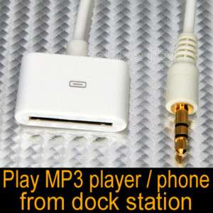Ipod Dock Cable End Female to 3.5mm Cable Aux input 3.5
