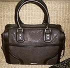 NWT Rebecca Minkoff MAB Mini Bombe Satchel, Black and Stingray