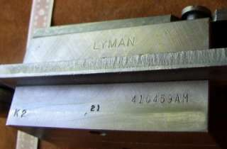 Lyman four cavity .410 caliber semi wadcutter bullet mold # 410459