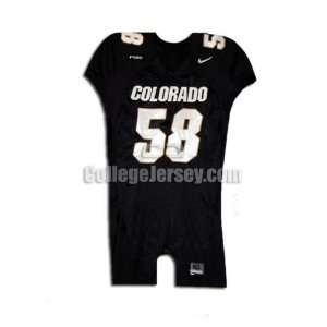 Black No. 58 Game Used Colorado Nike Football Jersey