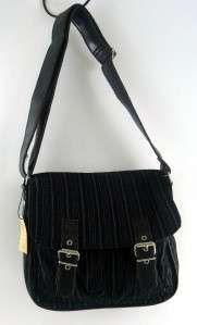 Tokyo Bay Black Savile Row Shoulder Satchel Handbag Purse Crossbody