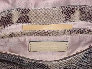 NEW Michael Kors Jenna Python Snake Leather Small Flap Handbag Purse