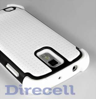 WHITE HYBRID IMPACT HARD CASE COVER FOR SAMSUNG GALAXY S 2 T989