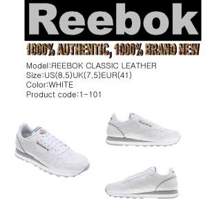 BRAND NEW Reebok shoes Classic Leather White Men US8.5