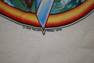 VINTAGE VAN HALEN 1979 WORLD TOUR SHIRT 1979 M ORIGINAL