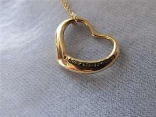 Co.18k YG Elsa Peretti Open Heart Pendant Necklace