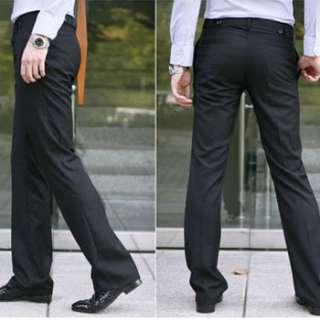 Korean Fashion Mens Pleated Skinny Casual Work Pants CN SZ M/L/XL/XXL