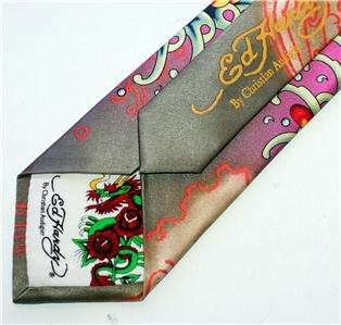 ed hardy christian audigier mermaid la sirena lorelei necktie tie new