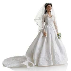 Franklin Mint Kate Middleton Royal Wedding Portrait Doll