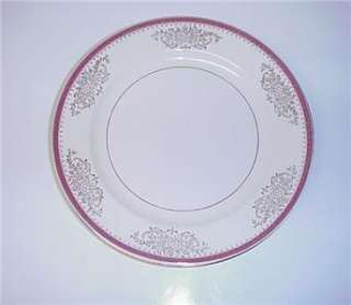 EDWIN KNOWLES DINNER PLATES SET 4 RED & GOLD KNO291 |