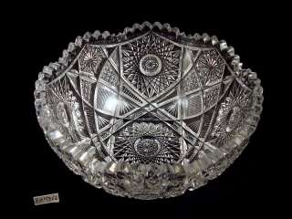 American Brilliant ABP Cut Glass Bowl
