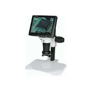 LCD KT2 LED   LCD Video Zoom Microscope, Track Stand, LED Ring Light