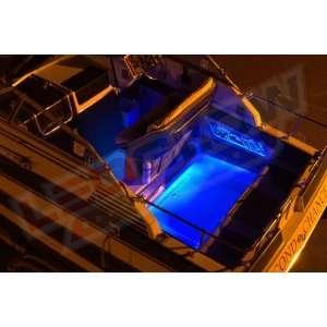 6pc Blue LED Boat Deck & Cabin Lighting Kit: Sports & Outdoors