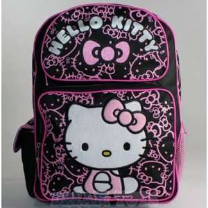 Hello Kitty in Pink Outfit Black Toddler Backpack Toys