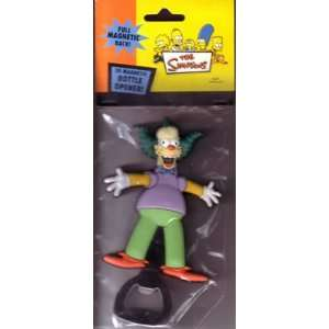 Simpsons Krusty the Clown Bottle Opener 3D Magnetic Back