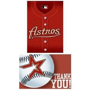 Houston Astros Baseball   Invite & Thank You Combo