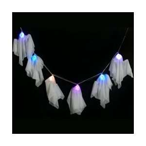 Multi Color Light Up Ghost Garland   Halloween Prop
