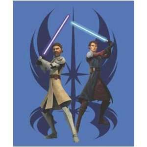 Star Wars Fun Fur Throw [Clone Wars Jedi Force   48 x 60