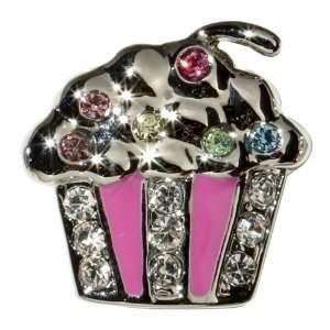 Sugar N Vine Multi Colored Crystal Pink Cupcake Slide Charm   Works