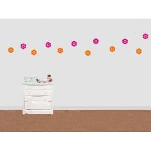 Wall Sticker Decal 6 cute Flowers