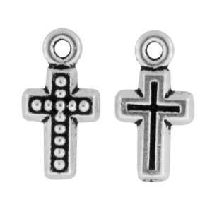 TierraCast® Pewter Antique Silver Beaded Cross Charms