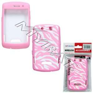 BLACKBERRY THUNDER 9500 AND STORM 9530 WHITE PINK ZEBRA SILICONE COVER