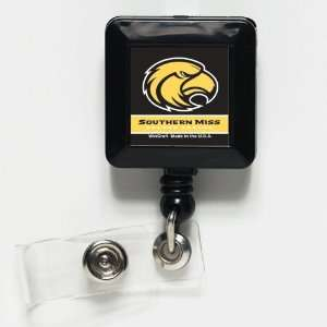 Southern Miss Golden Eagles Retractable Ticket Badge