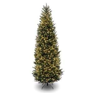 Slim Fir Hinged Christmas Tree; 1200 Clear Lights UL