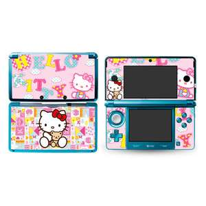 Kitty DECAL Skin Sticker P04 Cover for Nintendo 3DS N3DS