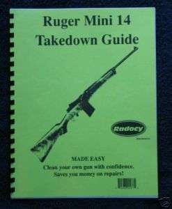 Ruger Mini 14 30 Rifle Assembly / Dis. guide Radocy