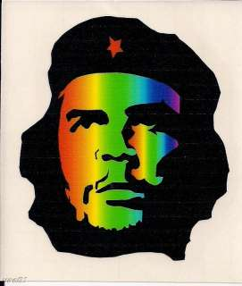 CHE GUEVARA RASTA RED YELLOW GREEN DECALS STICKERS