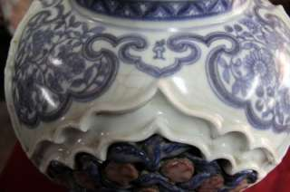 EXTREMELY RARE HIGH QUALITY ANTIQUE CHINESE YUAN DYNASTY PORCELAIN