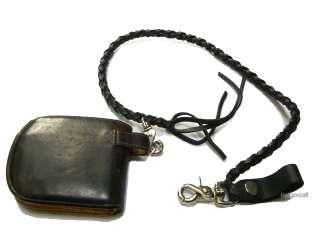 Leather Wallet Keychain Keyring Black/Brown/Tan vintage