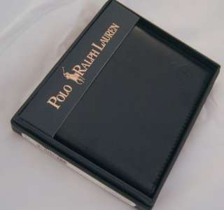 Nwt $120 Authentic Polo Ralph Lauren Mens Genuine Leather Passcase