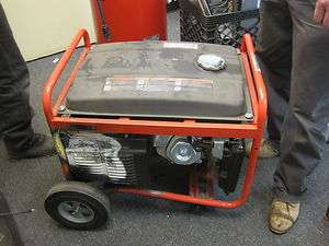 Used Homelite 5,000 Watt Gas Powered Portable Generator Model: HG5000