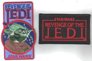 Star Wars Revenge of the Jedi Logos Patch Set of 2 NEW