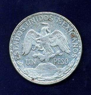 MEXICO ESTADO UNIDOS 1910 CABALLITO 1 PESO COIN XF+