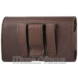 Horizontal Leather Pouch Case For HTC HD2 T MOBILE