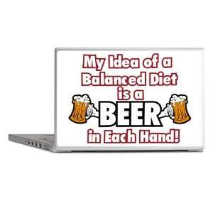 Laptop Notebook 11 12 Skin Cover My Idea of a Balanced Diet is a Beer