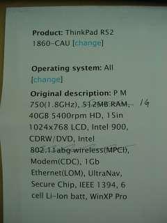 IBM ThinkPad R52 Great PC Laptop Nice