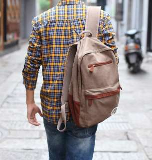 Canvas Fashion Casual School and Travelling Backpack Bag 666