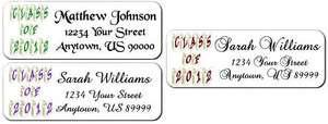 30 Graduation Class of 2012 Scroll Personalized Return Address Labels